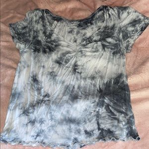 Fitted tie dye shirt AE
